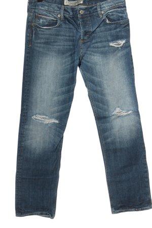 Abercrombie & Fitch Jeans met rechte pijpen blauw casual uitstraling