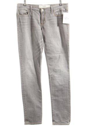 Abercrombie & Fitch Straight-Leg Jeans hellgrau schlichter Stil