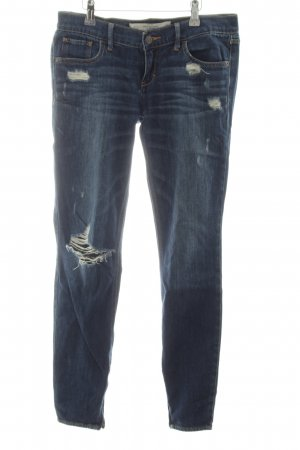 Abercrombie & Fitch Stretch Jeans blau Casual-Look