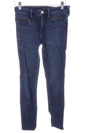 Abercrombie & Fitch Stretch Jeans dunkelblau Casual-Look