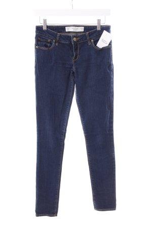 Abercrombie & Fitch Stretch Jeans dunkelblau schlichter Stil