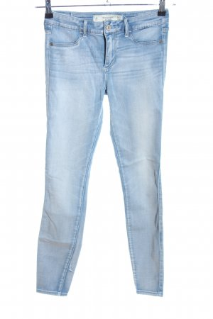 Abercrombie & Fitch Stretchhose blau Casual-Look