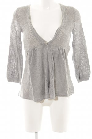 Abercrombie & Fitch Strick Cardigan hellgrau Casual-Look