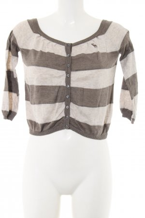 Abercrombie & Fitch Knitted Bolero brown-natural white flecked casual look