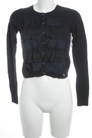 Abercrombie & Fitch Strickjacke dunkelblau Casual-Look
