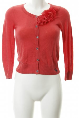 Abercrombie & Fitch Strickjacke hellrot Casual-Look