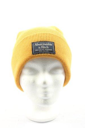 Abercrombie & Fitch Chapeau en tricot jaune primevère motif rayé