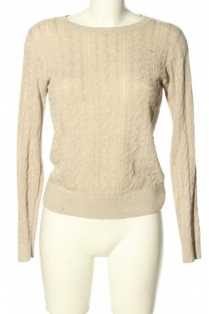 Abercrombie & Fitch Strickpullover creme Zopfmuster Casual-Look