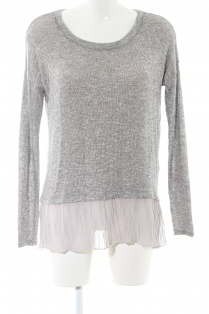 Abercrombie & Fitch Strickpullover hellgrau meliert Casual-Look