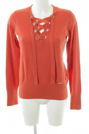 Abercrombie & Fitch Strickpullover hellorange Casual-Look