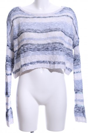 Abercrombie & Fitch Strickpullover blau-weiß meliert Casual-Look