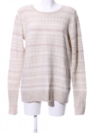 Abercrombie & Fitch Strickpullover creme-weiß grafisches Muster Business-Look