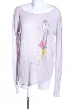 Abercrombie & Fitch Strickpullover lila Motivdruck Casual-Look