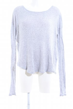 Abercrombie & Fitch Strickpullover weiß-blau meliert Casual-Look