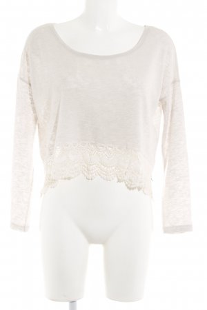 Abercrombie & Fitch Strickpullover creme-wollweiß Casual-Look
