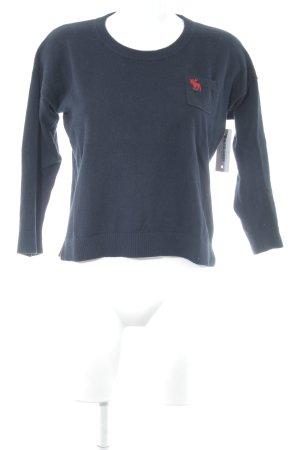 Abercrombie & Fitch Strickpullover dunkelblau schlichter Stil