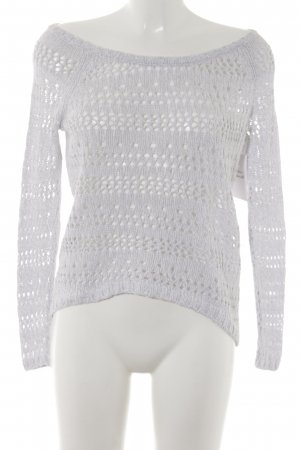 Abercrombie & Fitch Knitted Sweater light grey casual look