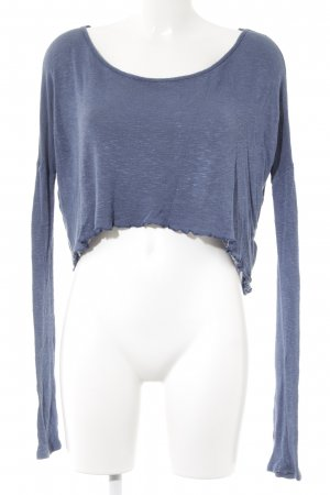 Abercrombie & Fitch Strickpullover kornblumenblau meliert Casual-Look