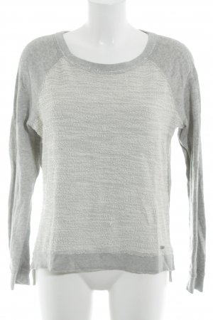 Abercrombie & Fitch Strickpullover wollweiß-hellgrau Casual-Look