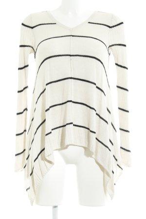 Abercrombie & Fitch Strickpullover wollweiß-schwarz Casual-Look