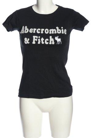 Abercrombie & Fitch Strickshirt schwarz-weiß Casual-Look