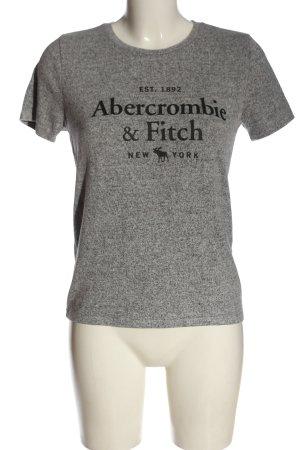 Abercrombie & Fitch Strickshirt hellgrau-schwarz meliert Casual-Look