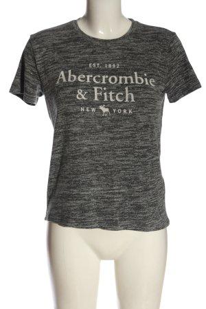 Abercrombie & Fitch Strickshirt hellgrau meliert Casual-Look