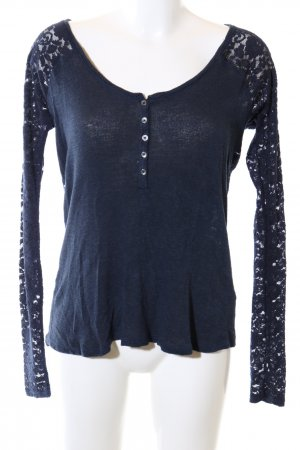 Abercrombie & Fitch Strickshirt blau Casual-Look