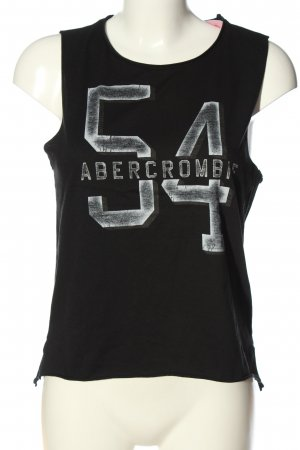 Abercrombie & Fitch Knitted Top black-light grey themed print casual look