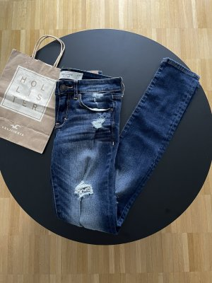 Abercrombie & Fitch Tube jeans donkerblauw-blauw