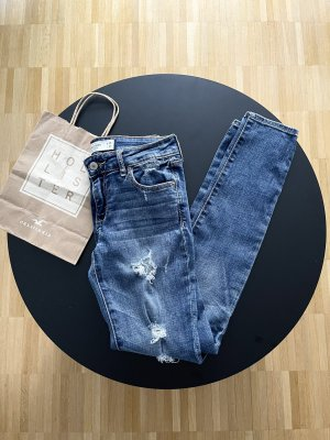 Abercrombie & Fitch Tube jeans blauw