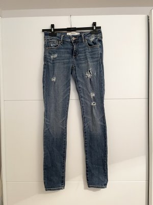 Abercrombie&Fitch Super Skinny Jeans Destroyed Löcher 0S W25 Neu!