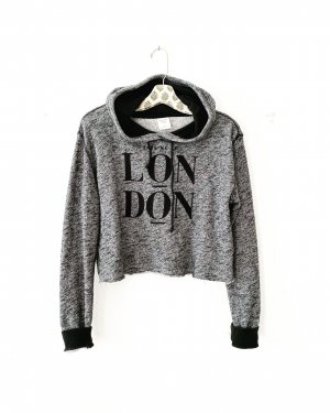 Abercrombie & Fitch • sweater • hoodie • feinstrick • grau • melliert