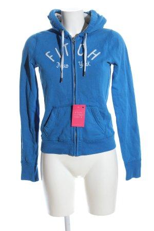 Abercrombie & Fitch Sweatjacke blau Casual-Look