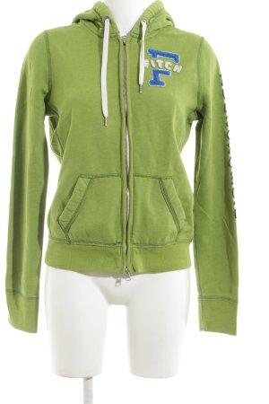 Abercrombie & Fitch Sweatjacke grün Motivdruck Casual-Look