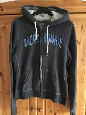 Abercrombie & Fitch Sweatjack donkergrijs-staalblauw