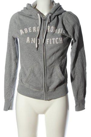 Abercrombie & Fitch Sweatjacke hellgrau Casual-Look
