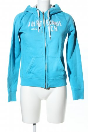 Abercrombie & Fitch Sweatjack blauw-wit casual uitstraling
