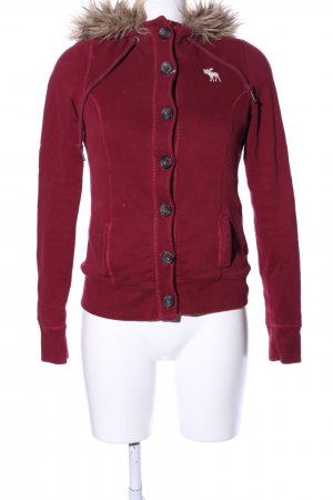Abercrombie & Fitch Sweatjacke rot Casual-Look