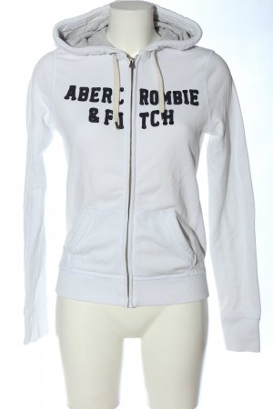 Abercrombie & Fitch Giacca fitness bianco stile casual