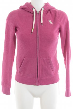 Abercrombie & Fitch Sweatjacke magenta Casual-Look