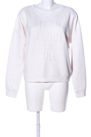 Abercrombie & Fitch Sweatshirt wollweiß Schriftzug gedruckt Casual-Look