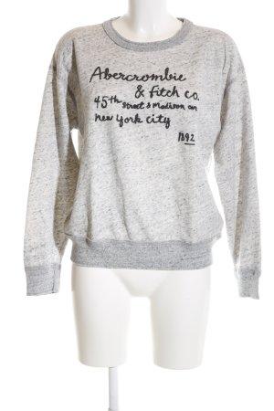 Abercrombie & Fitch Sweatshirt hellgrau Schriftzug gedruckt Casual-Look