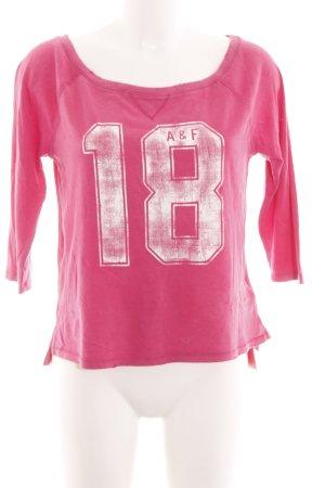 Abercrombie & Fitch Sweatshirt pink Motivdruck Casual-Look