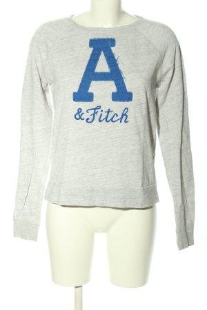 Abercrombie & Fitch Sweatshirt hellgrau-blau Schriftzug gedruckt Casual-Look