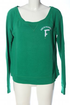 Abercrombie & Fitch Felpa verde stile casual
