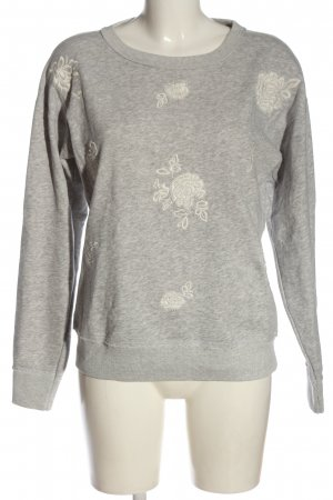 Abercrombie & Fitch Sweatshirt hellgrau Blumenmuster Casual-Look