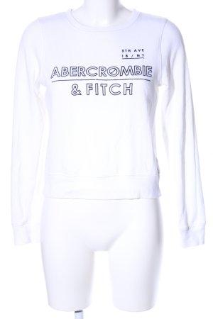 Abercrombie & Fitch Sweatshirt weiß-schwarz Casual-Look