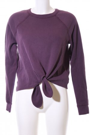 Abercrombie & Fitch Sweatshirt lila Casual-Look