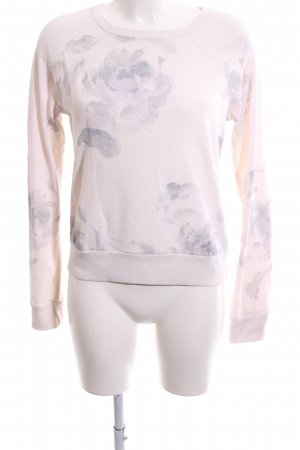 Abercrombie & Fitch Sweatshirt wollweiß-hellgrau Blumenmuster Casual-Look